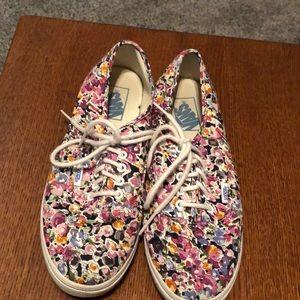 Vans floral sneakers